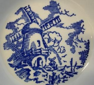 Royal USA Vintage Blue & White Transferware Bowl Windmill D52