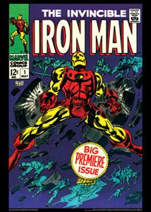 The Invincible Iron Man 1 May 1968 Marvel Comics Cover Poster Reprint