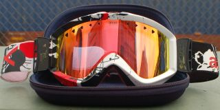 ANON FIGMENT SNOWBOARD GOGGLE black white red splat / red mirror $75