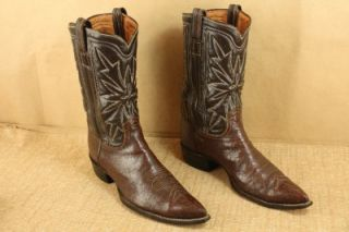 Tony Lama Mens Vintage Antelope Leather Western Pointed Toe Cowboy