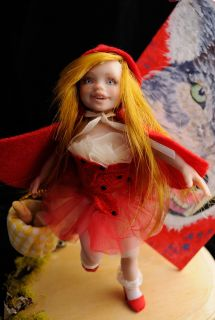 Little Red Riding Hood Clay Art Doll Fantasy Iadr Anna Cimmino