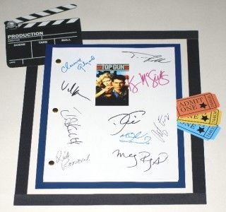 Top Gun Signed Movie Script rpt Tom Cruise Val Kilmer Kelly McGillis