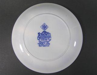 Antique Flow Blue Plate Rowland Marsellus Smiths Cove Nova Scotia