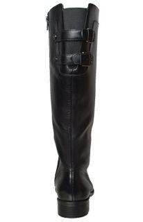 Anne Klein Womens Boots Keera Black Leather Sz 8 5 M