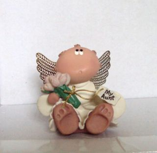 Berrie and Co Kirks Kritters Angel Cheeks My Aunt Figurine