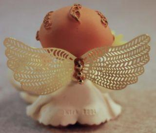 RUSS BERRIE ANGEL CHEEKS DECEMBER BIRTHSTONE FLOWER FIGURINE  KIRK