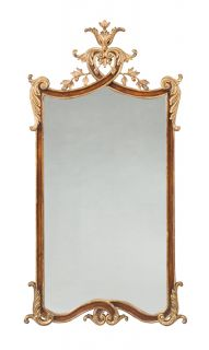 Hand Made Antique Vanity Mirror Solid Walnut Beveled Gold New