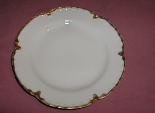 Antique Haviland China 3 PC Lot Plates Gold Trim Limoges France Nice