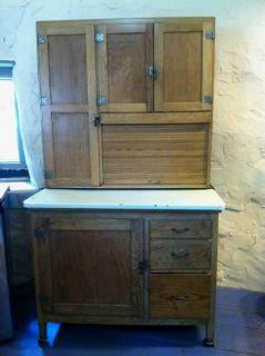 Antique Oak Hoosier Cabinet by Marsh Asheville NC