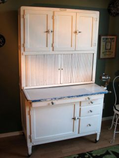 Antique Hoosier Cabinet Vintage 1920s All Original with Flour Sifter