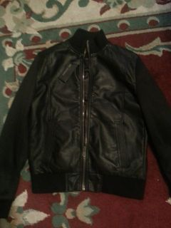 Marc Anthony Allegro Black Leather Jacket Kohls