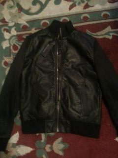 Marc Anthony Allegro Black Leather Jacket Kohls