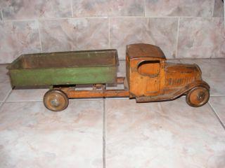 Antique Turner Dump Truck Construction Toy