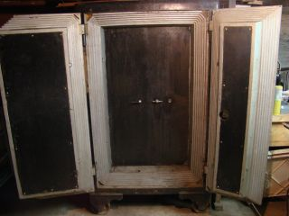 large antique floor safe heavy double doors x 2 new sargent