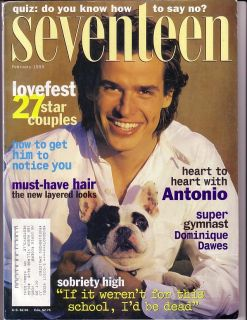 February 1995 Seventeen Magazine Antonio Sabato Jr
