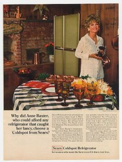 1969 Anne Baxter Photo  Coldspot Refrigerator Ad