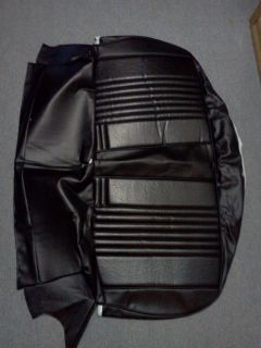 1971 Chevelle Front Bench Seat Bottom Cover PUI Black New