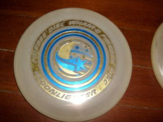 1975 Wham O Frisbee Disc MOONLIGHTER Diff Star Moon GLOW No Cupola