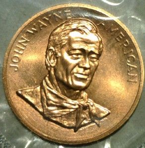 United States Mint John Wayne Commemorative Bronze Medal A True