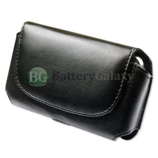 Cell Phone Leather Case Holster Belt Clip Black Pouch for Apple iPhone