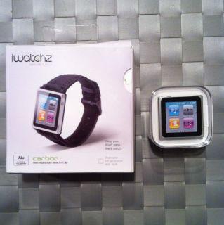 Apple iPod Nano 6th Generation Silver (8 GB) + Watch Band Black