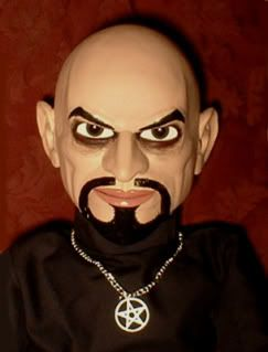 Ventriloquist doll EYES FOLLOW YOU Anton LaVey dummy puppet prop OOAK
