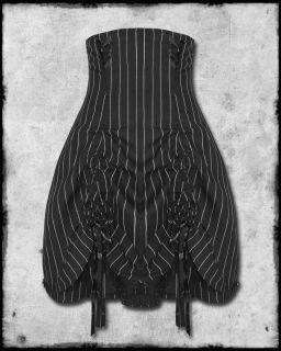 Spin Doctor Steampunk Victorian Pinstripe Corset Skirt