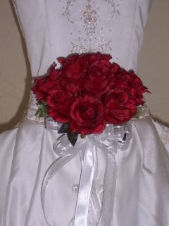 Alex Round Silk Rose Bridal Bouquet Wedding Flowers 154
