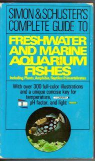 Simon Schuster Freshwater Marine Aquarium Fish Plants Reptiles