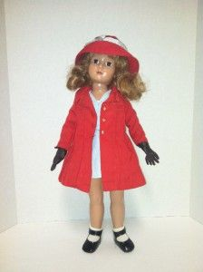 Effanbee Composition Anne Shirley Doll w/ Red Hat and Jacket