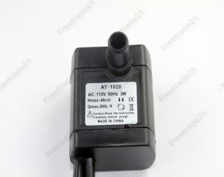 us 110v 3w 4 led submersible water pump fountain pond aquarium switch