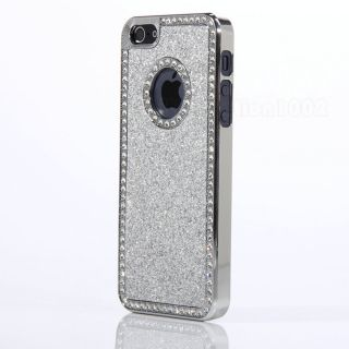 Glitter Diamond Chrome Hard Case Cover For Apple iPhone 5 + Stylus