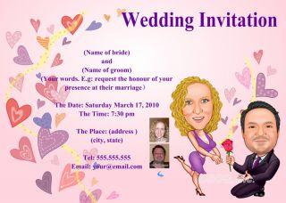 Anniversary Wedding Invitations Card Custom Pink Design