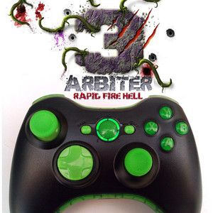 Arbiter 3 5 Rapid Fire Custom Xbox 360 Wireless Controller Modded