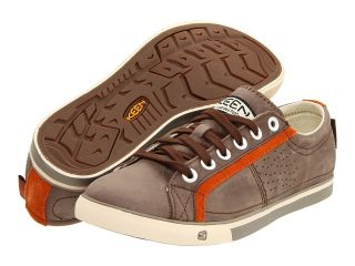 Keen Mens Arcata Leather Sneakers Shoes Slate Black Bombay Brown