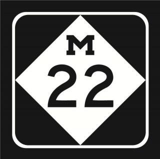 Michigan Highway M 22 M 22 Auto Decal Vinyl Sticker