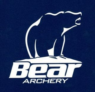 Bear Archery Vinyl Decal Sticker 5 5 x 5 5 White Bow Hunting Fred
