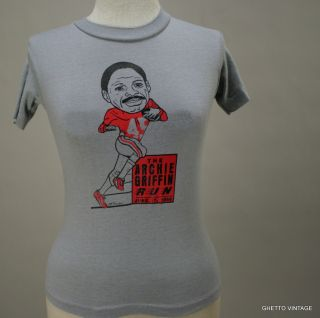 Vtg 1990 Archie Griffin Run Ohio State Buckeyes T Shirt XS