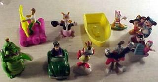 Lot of 9 PVC Toys Bugs Bunny Mickey Mouse Archie Etc