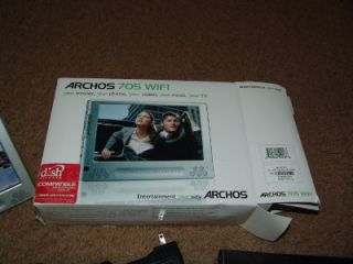 Archos 705 Wi Fi Touchscreen Mobile DVR 160GB Works Great