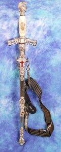 Masonic Knights Templar Fraternal Society Ceremonial Sword Scabbard