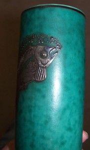 antique gustavsberg sweden argenta silver fish vase