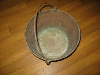 Large Antique Copper Kettle/Pot American Brass Kettle Manufacturers #2