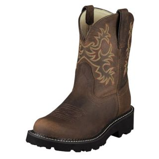Ariat Womens Fatbaby Original Western Cowgirl Boot Distressed Brown