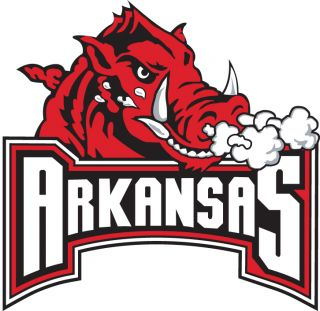 Arkansas Razorbacks wording Vinyl Die Cut Decal Sticker 3 Sizes