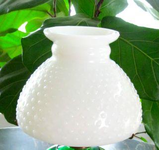 Antique Hobnail Milk Glass Shade for Oil or Kerosene Lamp