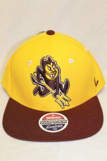 Arizona State Sun Devils NCAA Snapback Hat Cap REFRESH Yellow Maroon
