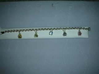 Armbrust 925 Sterling Bracelet Charm Style Multi Color Shaped Stones