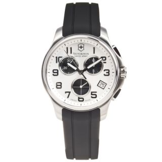 NEW* Victorinox Swiss Army Mens Officers Rubber Strap Chronograph