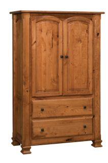 Luxury Amish Rustic Cherry Bedroom Set Solid Wood Full Queen King Size